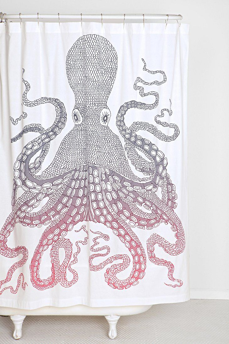 Nate Duval Giant Octopus Shower Curtain