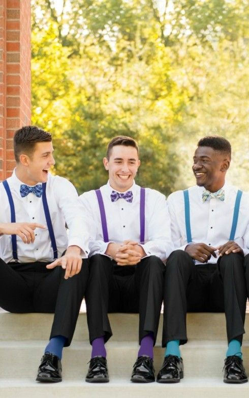 Suspenders and bowties available at Spotlight Formal Wear!