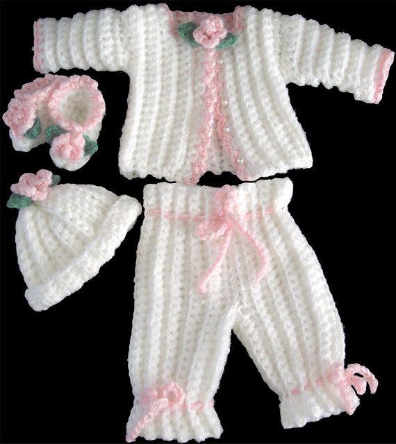 Isabella Purple Dress Set Crochet Pattern PDF | Bebe, Bebé y Tejido