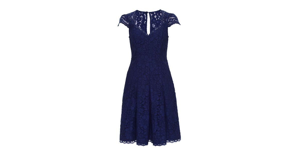 Review Australia | Marina Lace Dress Royal Blue | Wearables ...
