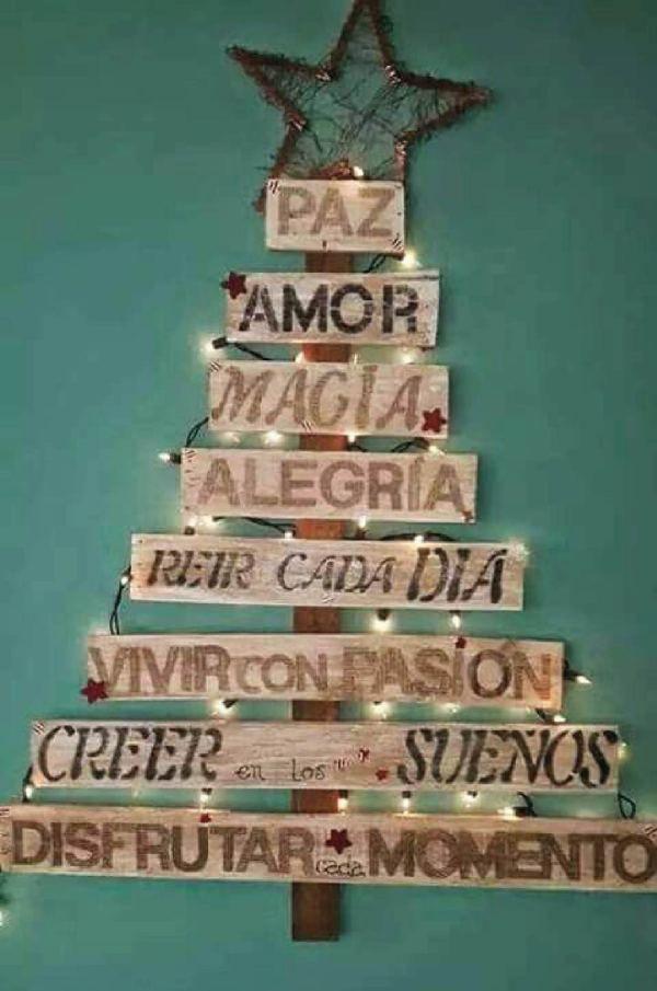 Los m s lindos rboles navide os de madera rboles de - Arboles de navidad en madera ...