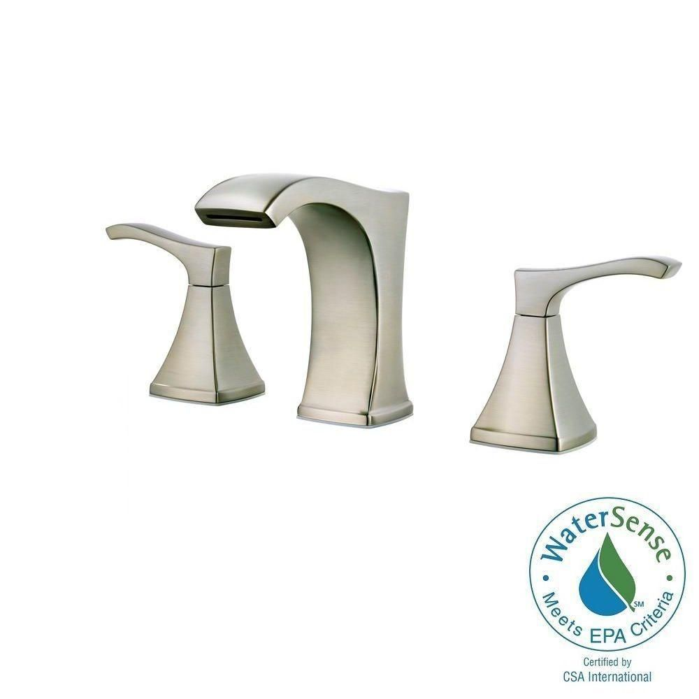 Pfister Venturi 8 In Widespread 2 Handle Bathroom Faucet In Brushed