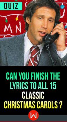 Quiz: Can You Finish The Lyrics To All 15 Classic Christmas Carols?   Christmas lyrics, Finish ...