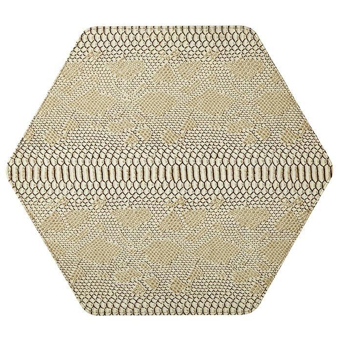 Python Bone White Honeycomb Place Mats Set 4 Placemat Sets Placemats Bone White