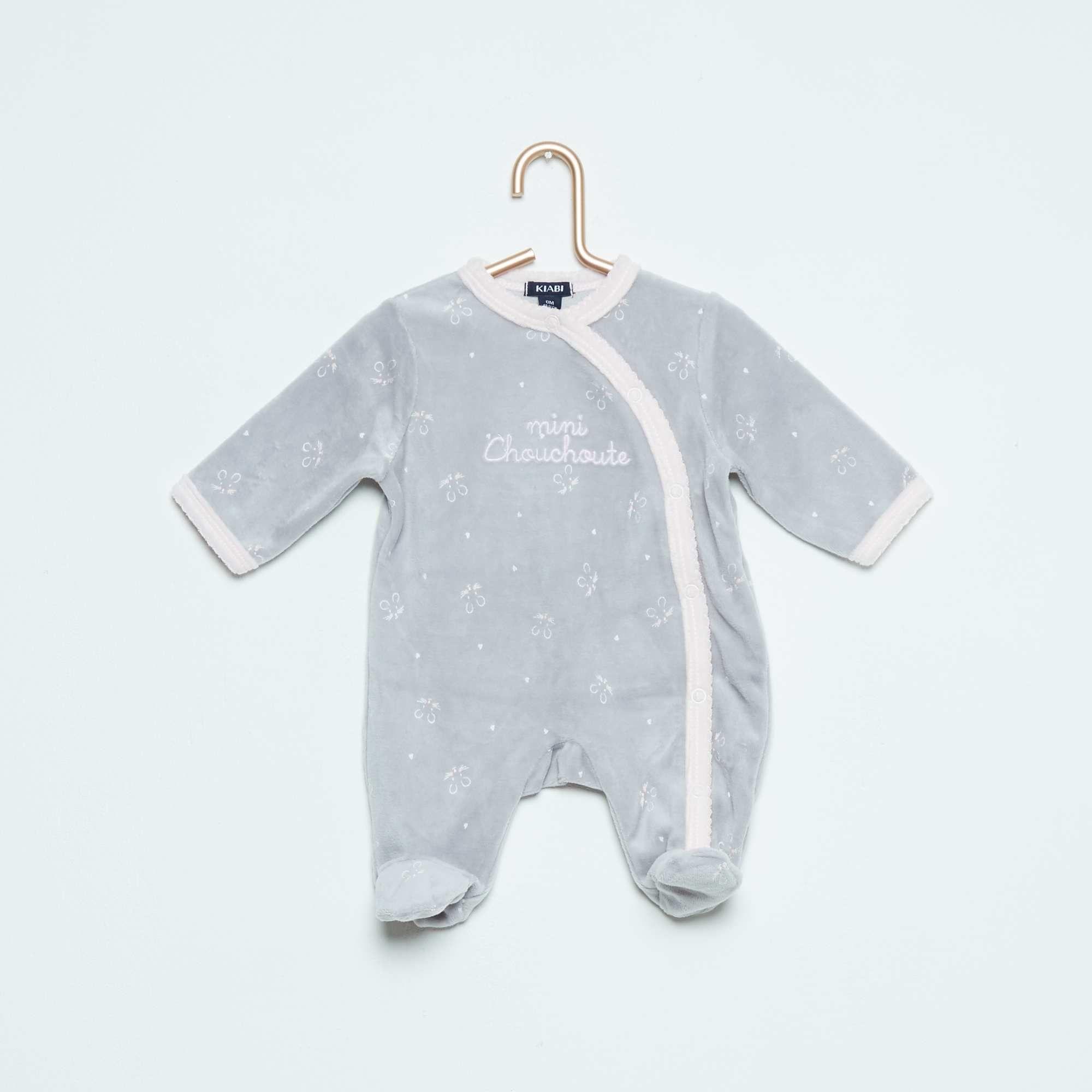 d6fb1de2baf7a Pyjama en velours imprimé étoile Bébé fille - Kiabi - 10