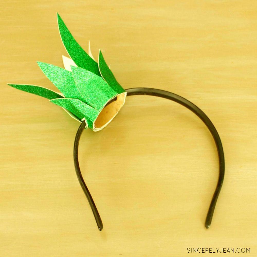 DIY Easy Pineapple Headband Halloween Costume
