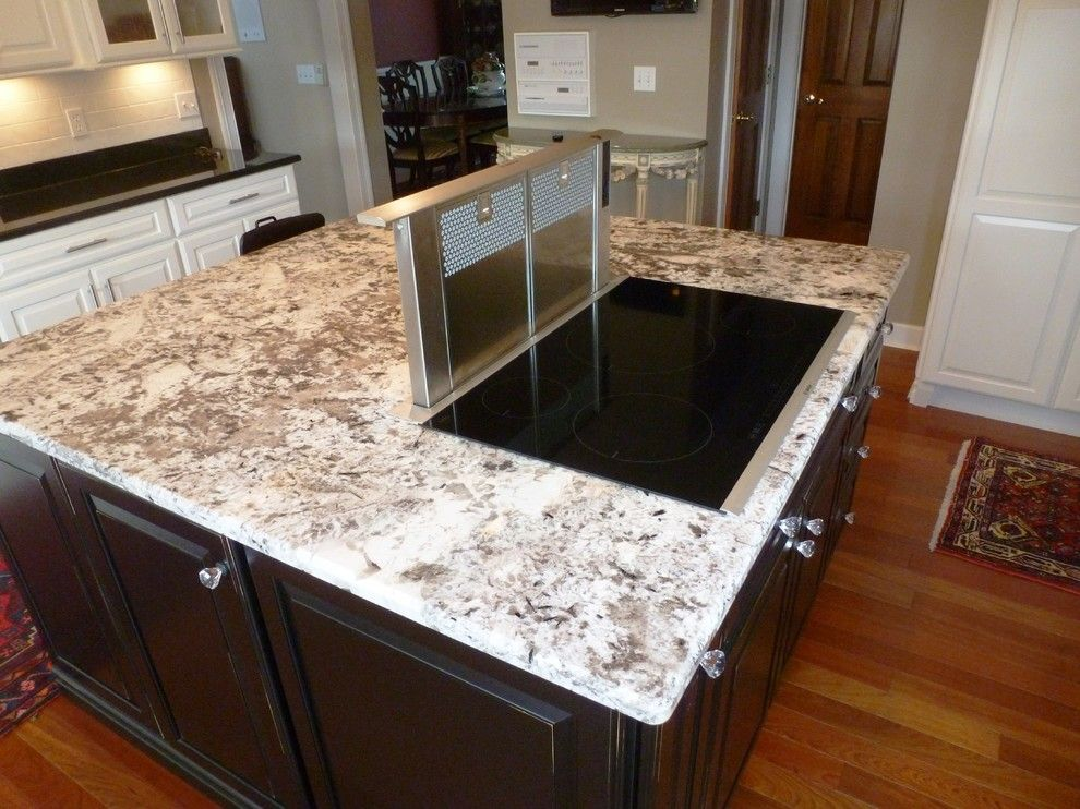 White Diamond Granite Kitchen Traditional With Alaska White .