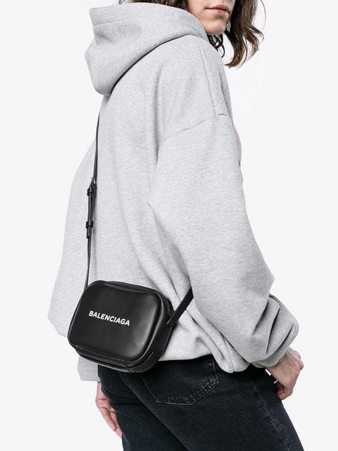 Leather camera bag, Bags, Balenciaga