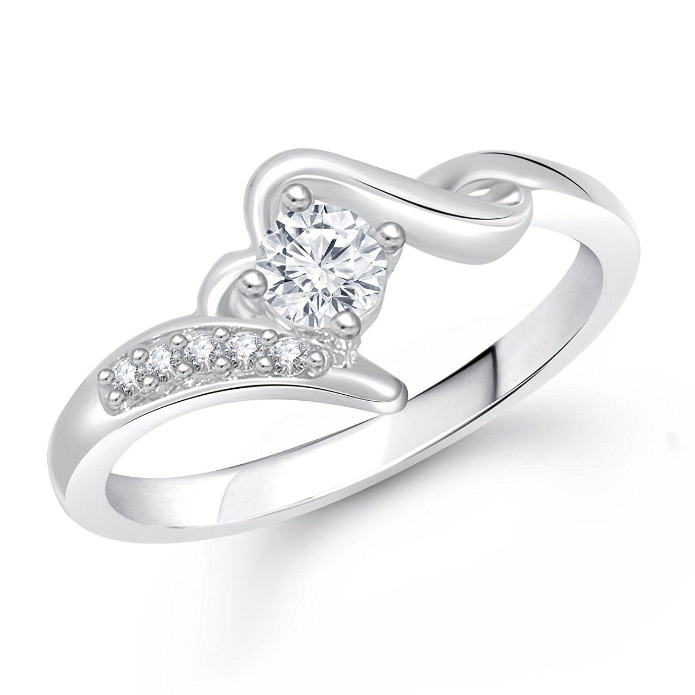 Meenaz Jewellery Silver Plated Rings For Girls ,Women In American ...