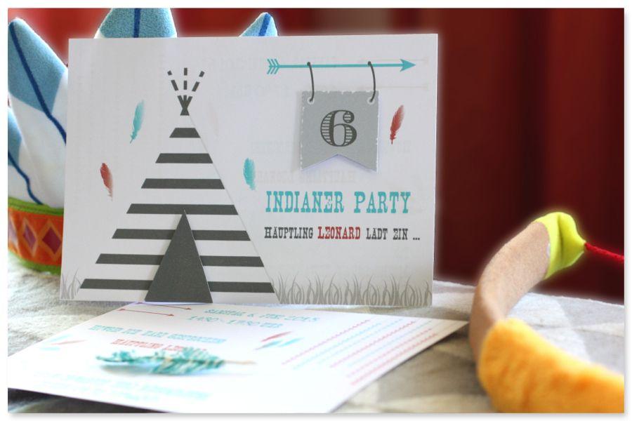 Einladung Indianerparty Www.pickposh.de · Einladung  KindergeburtstagIndianerEinladungenGeburtstagsfeierGeburtstagspartyKinder  ...