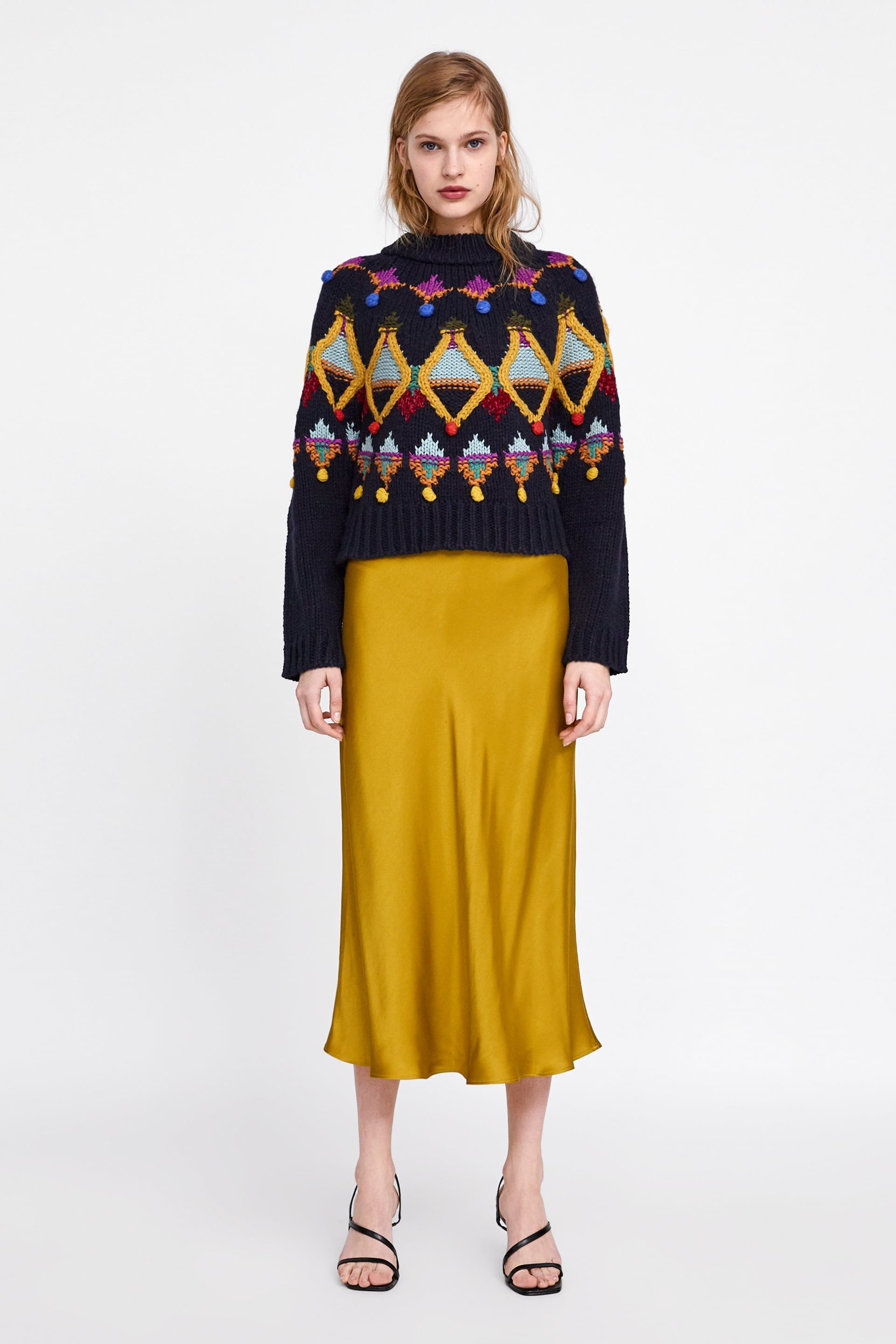 34f2caa582 Multicolored embroidered knit sweater | Crochet Knit Sweater | Knit ...