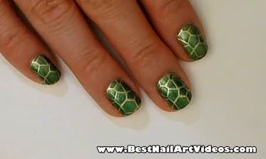 Turtle Shell Nail Art Design The Best Nail Art Videos Turtle Nail Art Turtle Nails Nail Art Videos