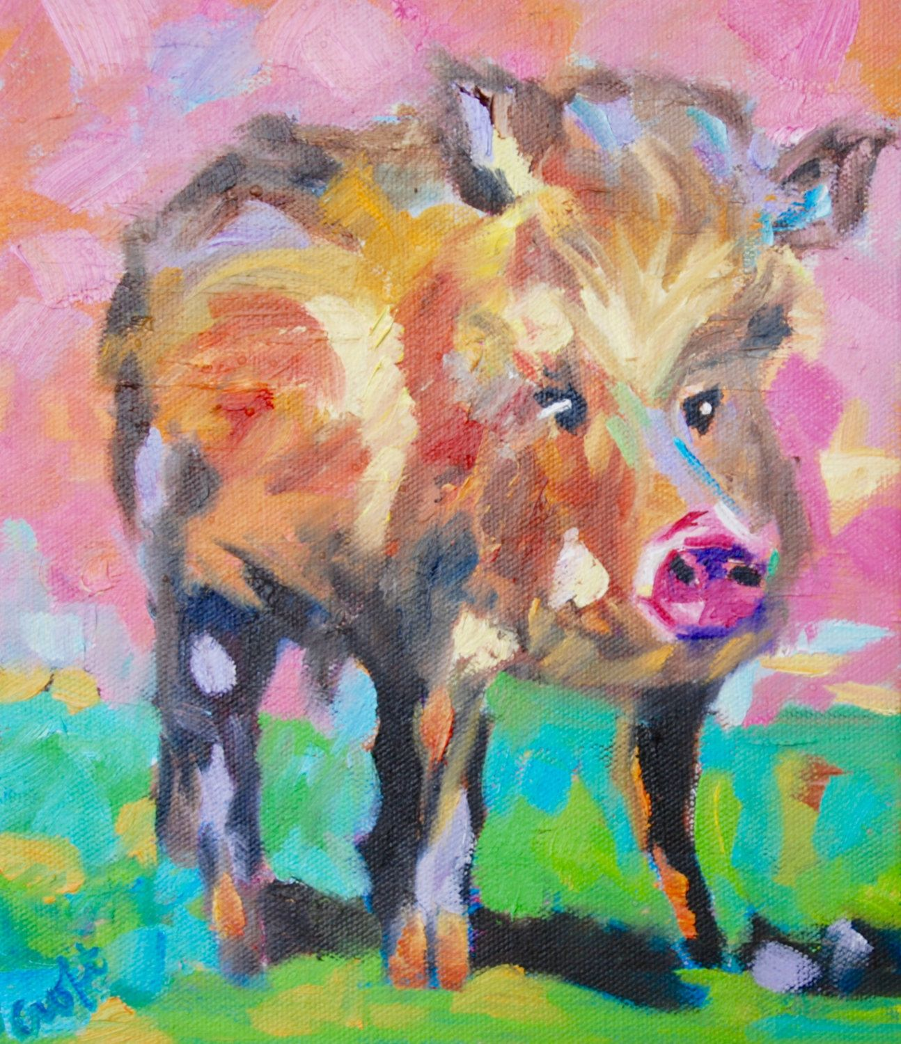 Art Painting Javelina