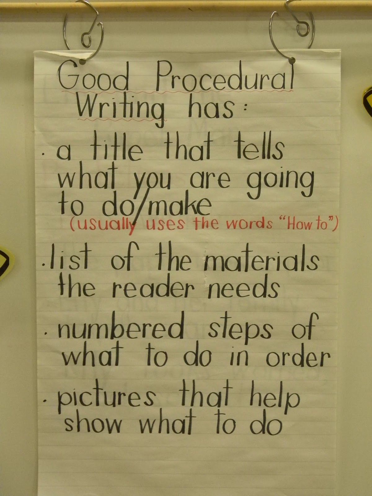 Procedural Writing Examples