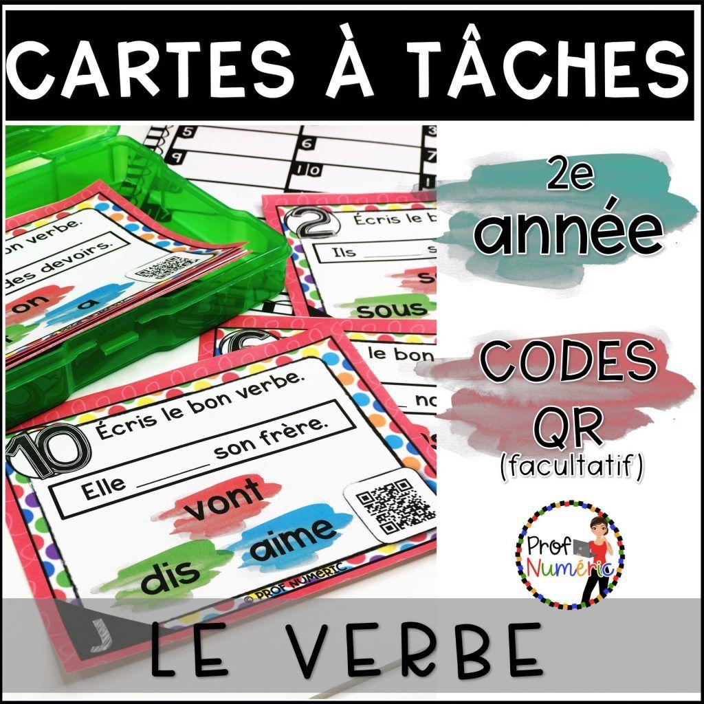 Cartes A Taches Codes Qr La Grammaire L Ensemble Complet 2e
