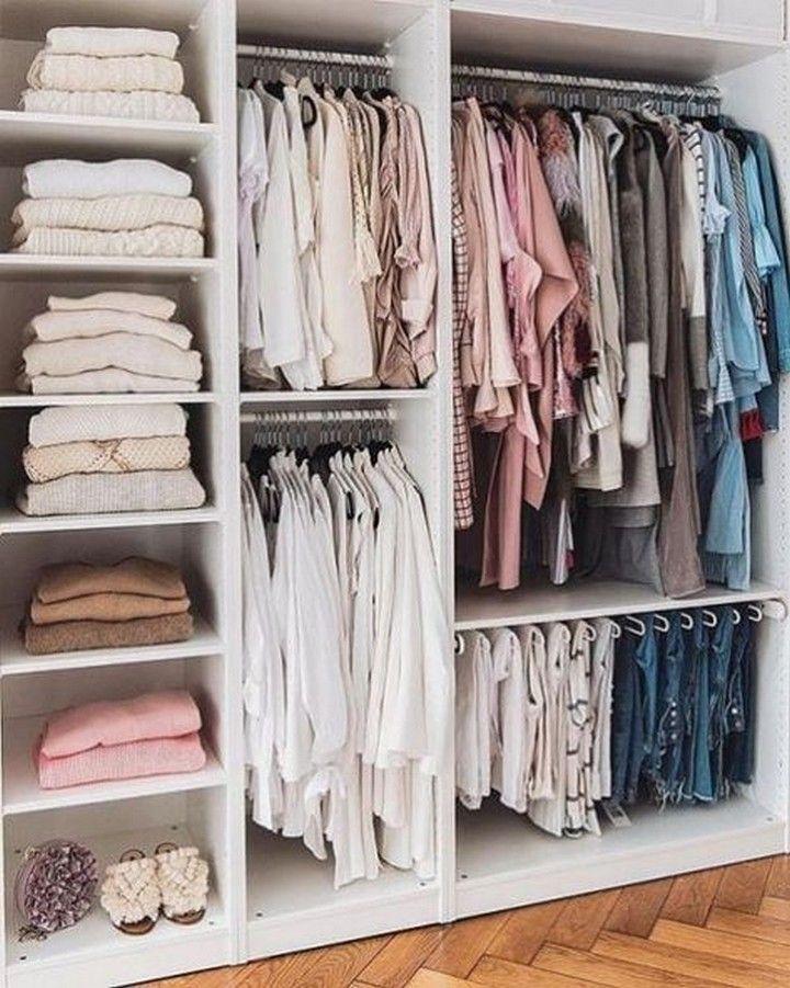 Best small walkin closet storage ideas for bedrooms in