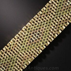 18K TriColor Gold Mesh Bracelet Jewelry Pinterest Bracelets