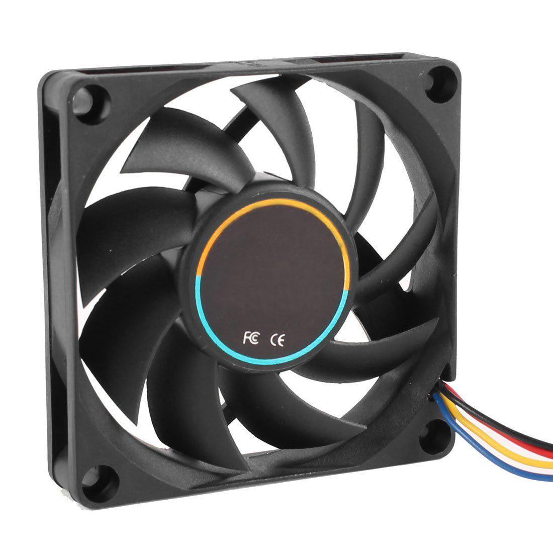2016 New 70mmx15mm 12v 4 Pins Pwm Pc Computer Case Cpu Cooler