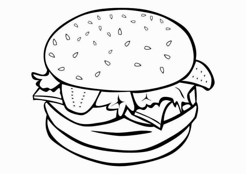 Coloring Pictures Of Food Buku Mewarnai Warna Menggambar Makanan