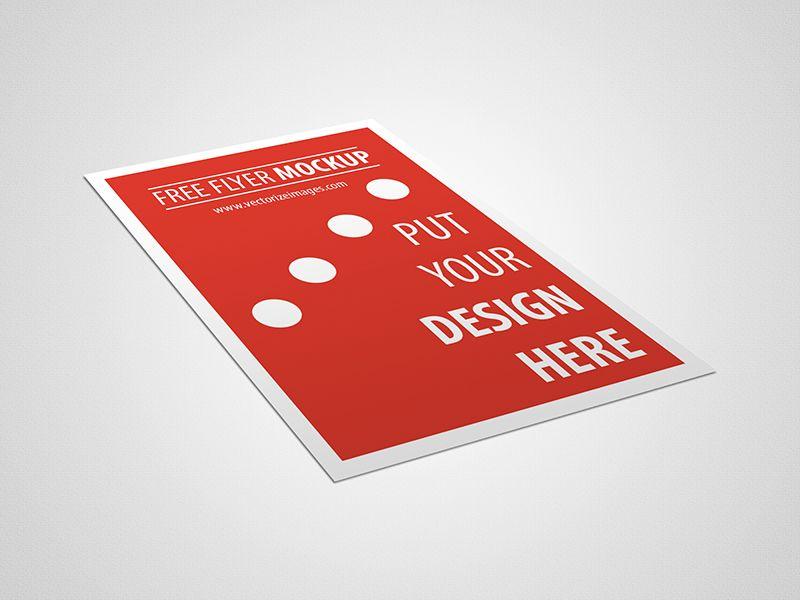 Download Free Flyer Mockup - http://www.vectorizeimages.com/free ...