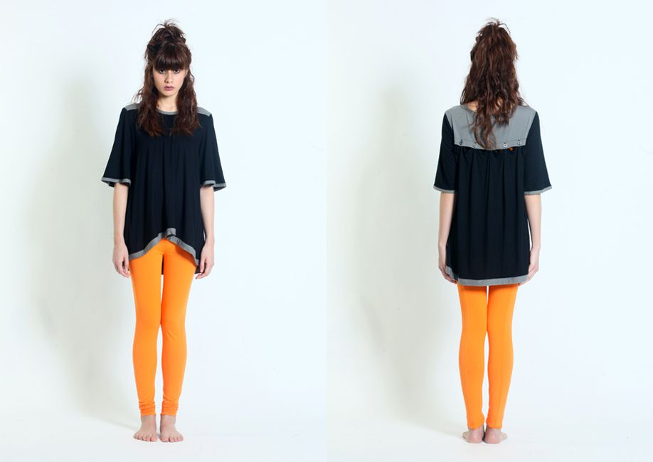 12WABTE030 Women short sleeves tees with button drape back www.facebook.com/forinsanehuman