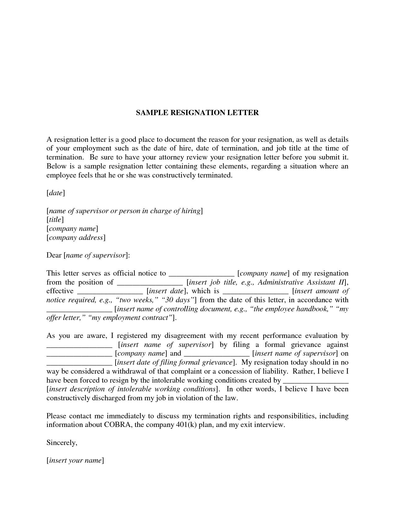 involuntary resignation letter sample resignation letter 20 best exle involuntary resignation letter what ...