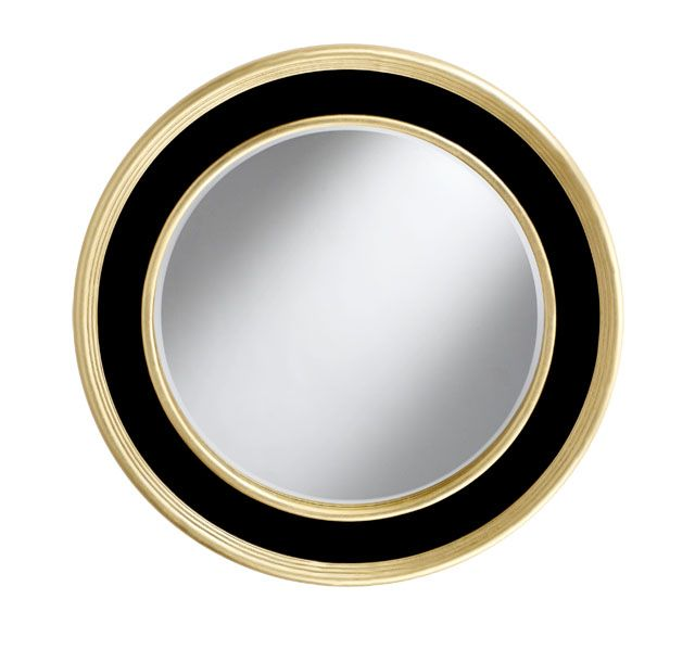 Mirror round wall mirror large modern contemporary wall for Large round gold mirror