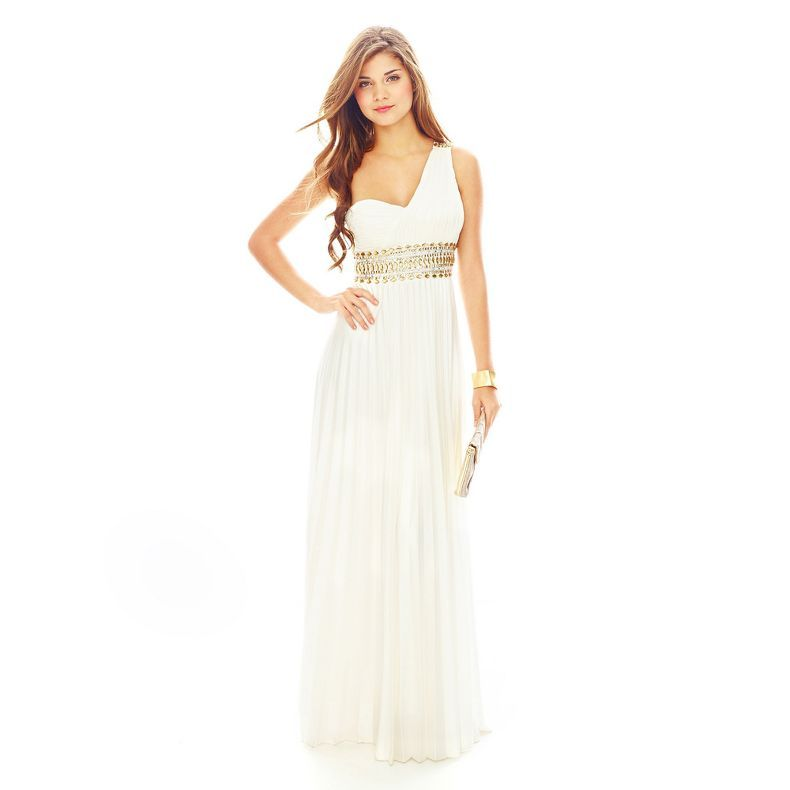 248b7481b78 jcpenney - My Michelle® 1-Shoulder Beaded-Waist Pleated Long Dress -  jcpenney