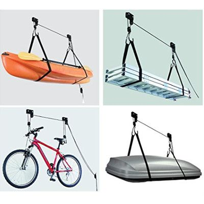 Range vélo au plafond charge lourde pour VAE | Rangement au plafond, Garage velo, Range velo