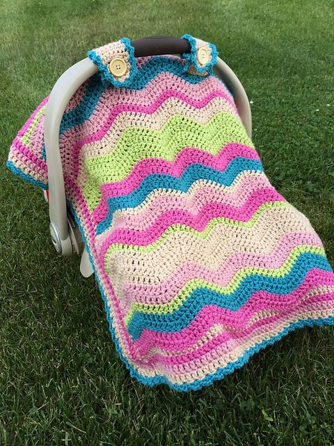 Car Seat Cover Pattern By Jessica Dayon Mycrochet Pink Grannies