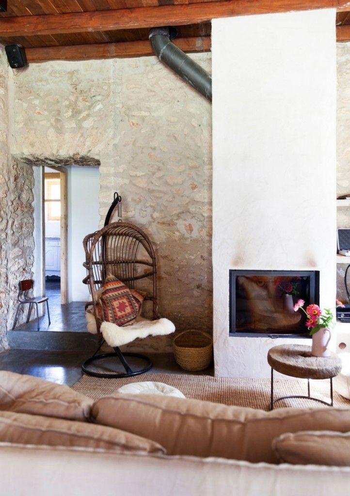 Het interieur van een vakantiehuis | Pinterest - Haard, Interieur en ...