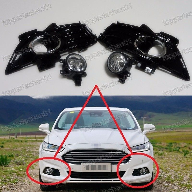 Clear Lens Fog Light Lamps Bezels Kits For Ford Fusion Mondeo