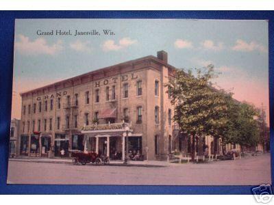 1910s Grand Hotel Janesville Wi Postcard Aka Future Monterey Base Floors