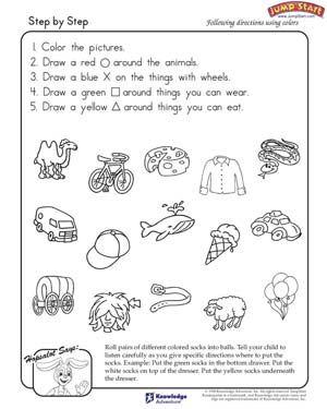 Step by Step - Free Critical Thinking Worksheet for Kids