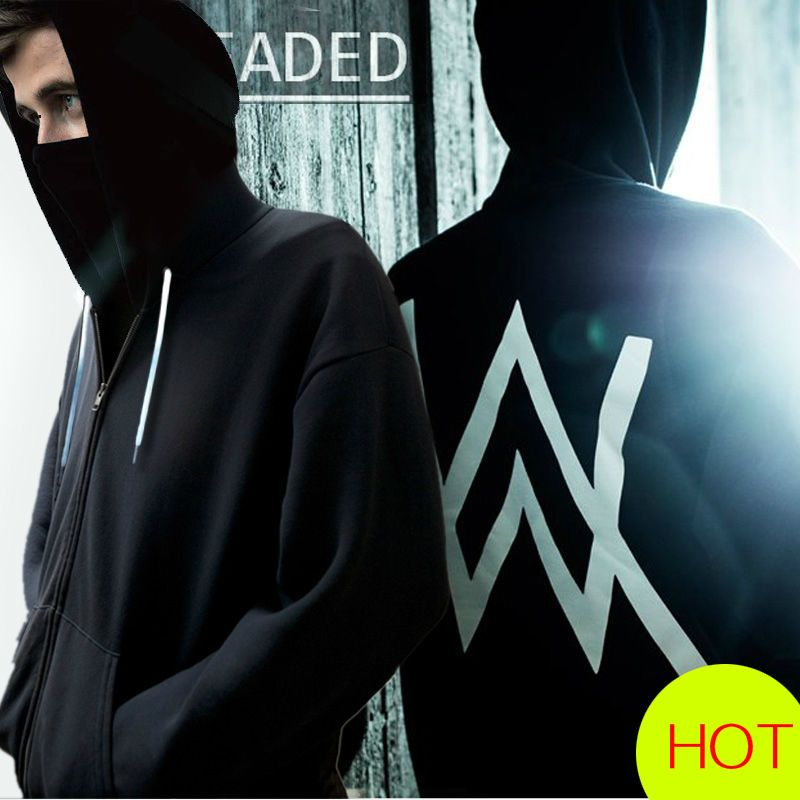 c63e7b7dd Fashion Young Men's & Women's Zipper Jacket Hoodies Destro Alan Walker Dj  Faded