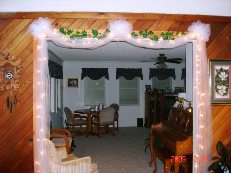 White Lights Tulle Amp Ivy Around A Doorway Tulle Bows So