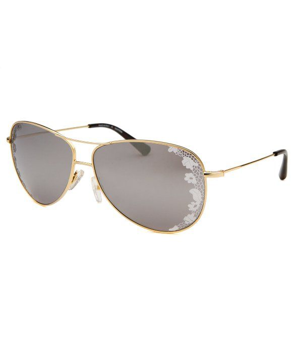 Valentino Women's Aviator Gold-Tone Sunglasses   BLUEFLY up to 70% off designer brands