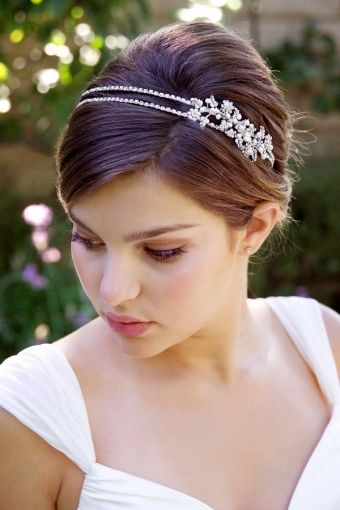 With Headband Wedding Ideas Pinterest - Pelo-corto-con-diadema