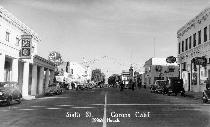 6th street street california postcard usa street