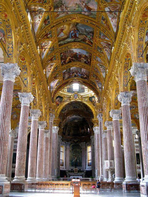 Basilica della Santissima Annunziata del Vastato, Genoa, Italy.  by Willcorit