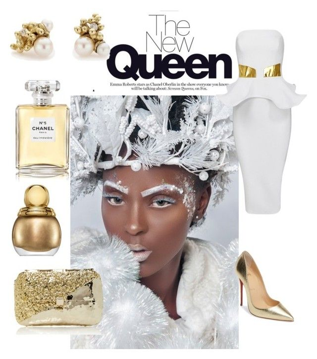 """the new queen"" by sofiacalo ❤ liked on Polyvore featuring Christian Louboutin, Ruth Tomlinson, Anndra Neen, Chanel and Christian Dior"