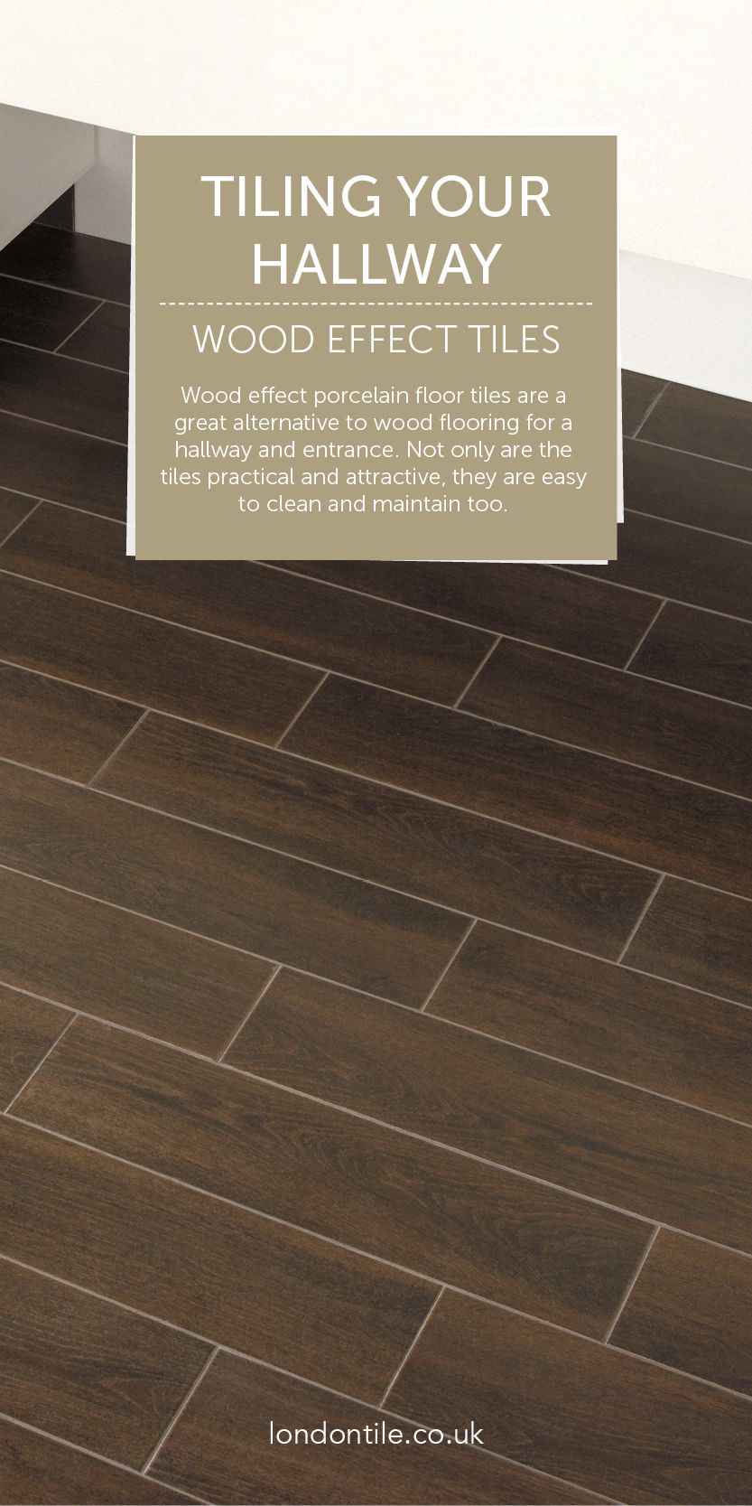 Wood effect porcelain floor tiles are easy to clean and maintain