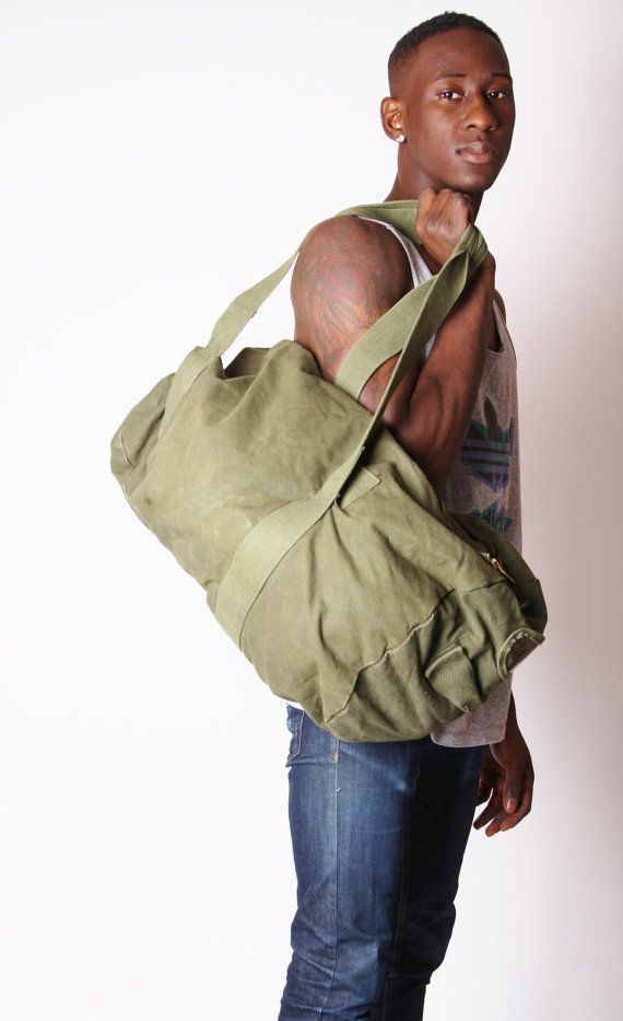 3d9e14726f64 70s Military Duffle Bag Army Bag Canvas Army Bag by EmmettBrown ...