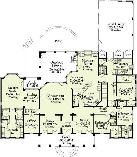 Amazing House Floor Plan Bedroom House Plans House Flooring House Floor Plans