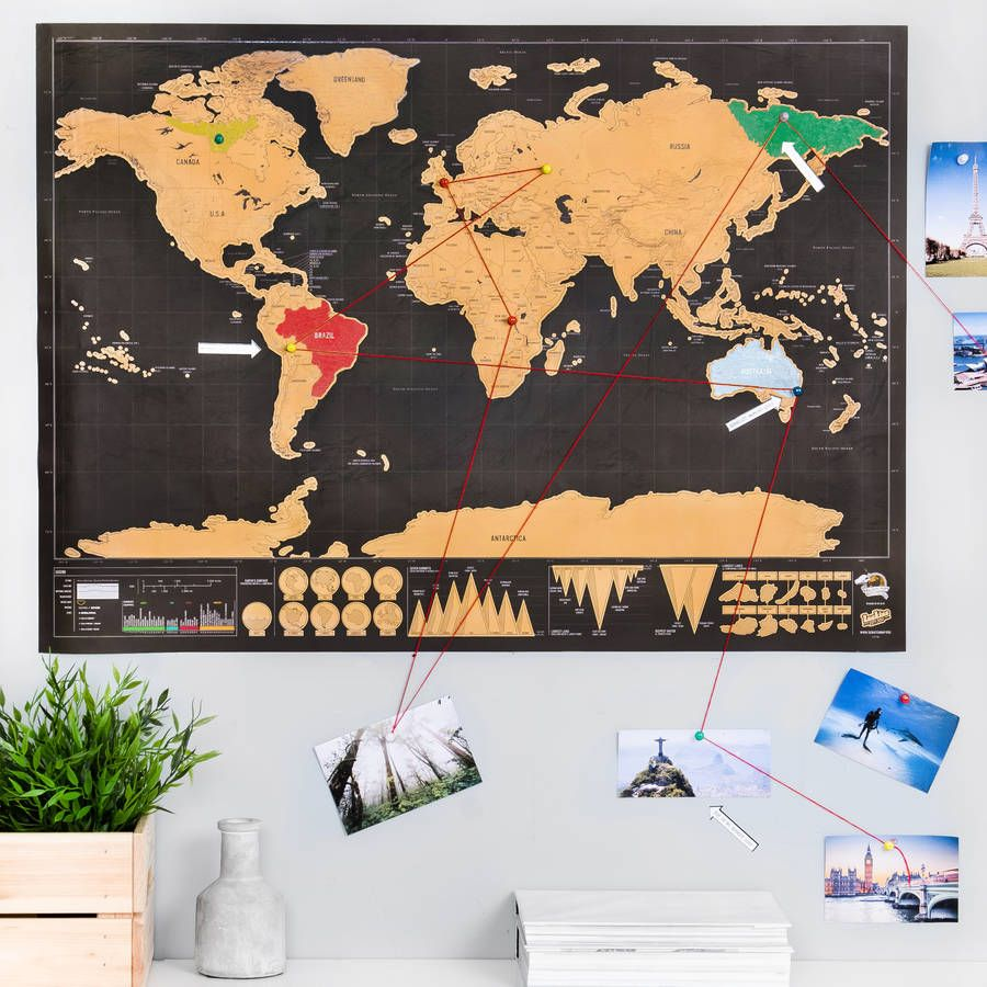 Deluxe push pin scratch off world map bundle walls and room deluxe push pin scratch off world map bundle gumiabroncs Image collections
