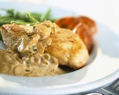 Photo of Chicken with cream and mushrooms