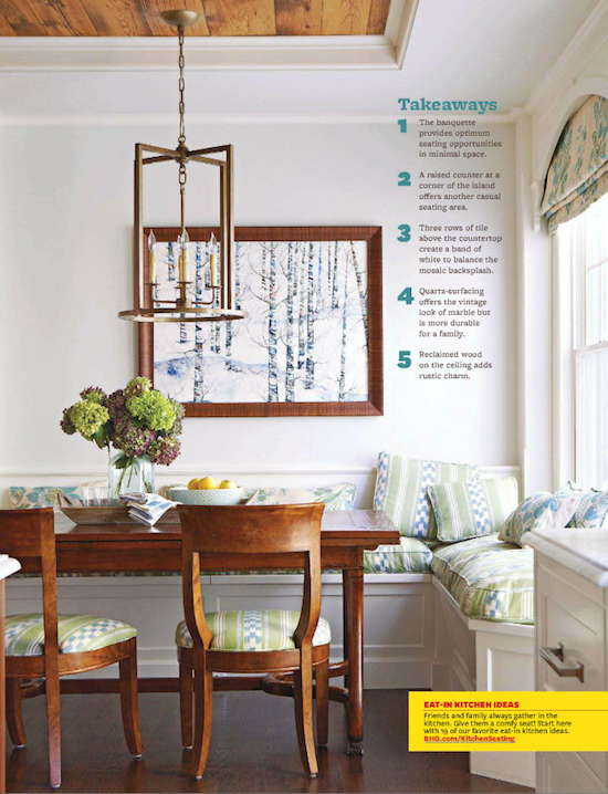 Small Eat In Kitchen Ideas Part - 22: Cool Pendant In Eat-in Kitchen; Window Seat