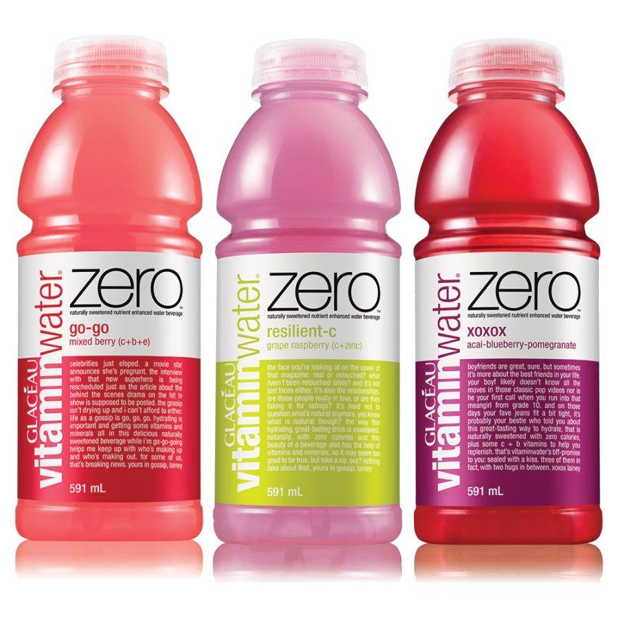 Vitamin Water Zero Sweetened With Stevia Instead Of Sugar Fruit Infused Water Bottle Healthy Drinks Stevia Drinks