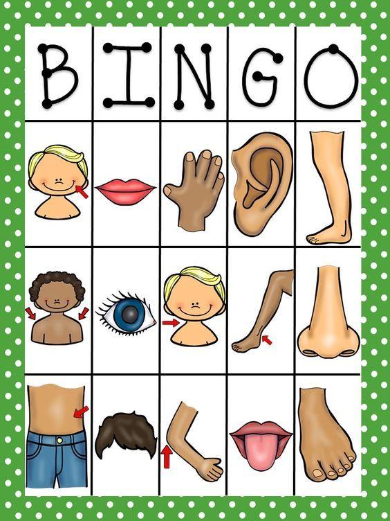Body Parts Bingo In Spanish Español, Cuerpo y Actividades - copy tabla periodica en espaã±ol e ingles