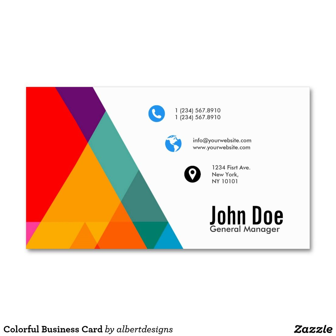 Colorful Business Card | Business cards and Business